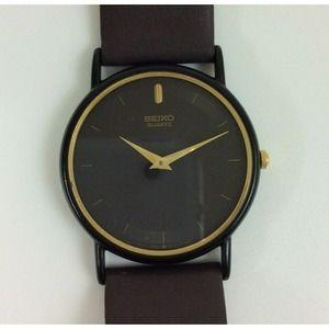 Vintage Seiko Men's Watch Brown Band